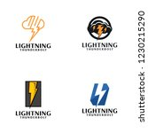 creative lightning thunderbolt... | Shutterstock .eps vector #1230215290