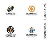 creative lightning thunderbolt... | Shutterstock .eps vector #1230215293