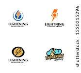 creative lightning thunderbolt... | Shutterstock .eps vector #1230215296