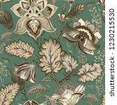 vector vintage floral pattern ... | Shutterstock .eps vector #1230215530