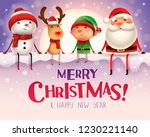 merry christmas  happy... | Shutterstock .eps vector #1230221140