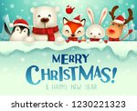 merry christmas  christmas cute ... | Shutterstock .eps vector #1230221323