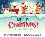 merry christmas  christmas cute ... | Shutterstock .eps vector #1230221326