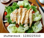 breast chicken salad on the... | Shutterstock . vector #1230225310
