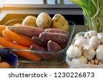 raw ingredients  potatoes ... | Shutterstock . vector #1230226873