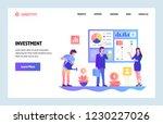 vector web site gradient design ... | Shutterstock .eps vector #1230227026