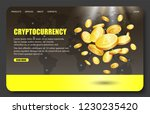 cryptocurrency landing page... | Shutterstock .eps vector #1230235420