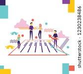 modern concept for business... | Shutterstock .eps vector #1230238486