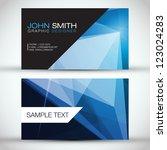 blue modern business card set   ... | Shutterstock .eps vector #123024283