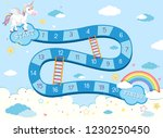 unicorn board game template... | Shutterstock .eps vector #1230250450
