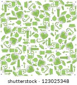 green new year pattern | Shutterstock .eps vector #123025348