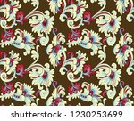 abstract seamless paisley... | Shutterstock .eps vector #1230253699