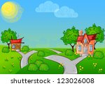 background the path to a... | Shutterstock . vector #123026008