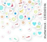 social media marketing ... | Shutterstock .eps vector #1230260146