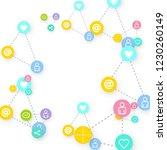 social media marketing ... | Shutterstock .eps vector #1230260149