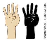 human hand gesture sign number...   Shutterstock .eps vector #1230261736