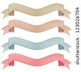 vintage banner label frame ...   Shutterstock . vector #123026704