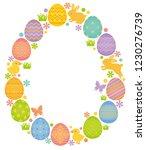 easter egg shape with easter... | Shutterstock .eps vector #1230276739