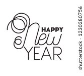 happy new year isolated icon | Shutterstock .eps vector #1230280756