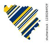 stylized map of bosnia... | Shutterstock .eps vector #1230284929