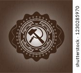 sickle and hammer icon inside... | Shutterstock .eps vector #1230285970