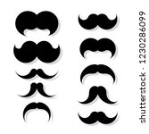 set of hipster mustache... | Shutterstock .eps vector #1230286099