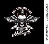 winged racer skull with piston... | Shutterstock .eps vector #1230290266
