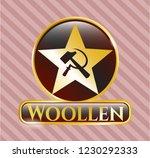 golden emblem or badge with... | Shutterstock .eps vector #1230292333