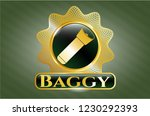 gold shiny badge with... | Shutterstock .eps vector #1230292393