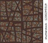 rusty seamless pattern.... | Shutterstock .eps vector #1230295519