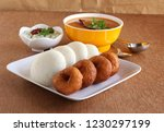 idli or idly  is a healthy... | Shutterstock . vector #1230297199