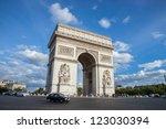 paris   circa august 2012  arc... | Shutterstock . vector #123030394