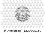 authorize realistic grey emblem ... | Shutterstock .eps vector #1230306160