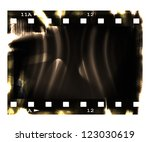 old blank film strip with... | Shutterstock . vector #123030619