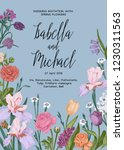 wedding invitation card with... | Shutterstock .eps vector #1230311563