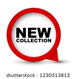 red vector banner new collection | Shutterstock .eps vector #1230313813