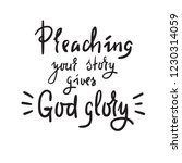 preaching your story gives god... | Shutterstock .eps vector #1230314059