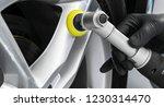 car polish wax worker hands... | Shutterstock . vector #1230314470