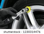 car polish wax worker hands... | Shutterstock . vector #1230314476