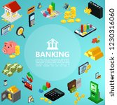 isometric banking elements... | Shutterstock .eps vector #1230316060
