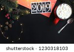 happy new year. winter 2019.... | Shutterstock . vector #1230318103