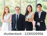 asian business team standing...   Shutterstock . vector #1230320506