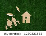 green energy for home concept.... | Shutterstock . vector #1230321583