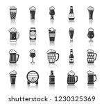 beer mug silhouette icons set.... | Shutterstock .eps vector #1230325369