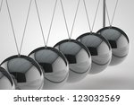 chrome balancing spheres know... | Shutterstock . vector #123032569
