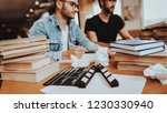 closeup screenwriters with... | Shutterstock . vector #1230330940