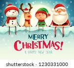 merry christmas  happy... | Shutterstock .eps vector #1230331000