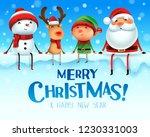 merry christmas  happy... | Shutterstock .eps vector #1230331003