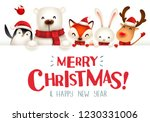 merry christmas  christmas cute ... | Shutterstock .eps vector #1230331006