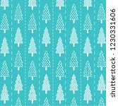 pattern with christmas tree for ... | Shutterstock .eps vector #1230331606